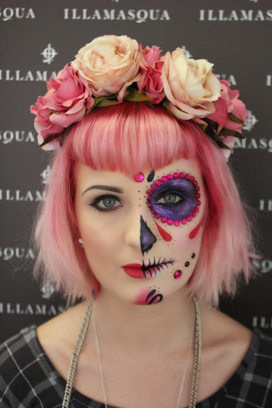 Halloween make up tutorials sugarskull and skull honeypop kisses halloween make up tutorials sugarskull and skull baditri Image collections